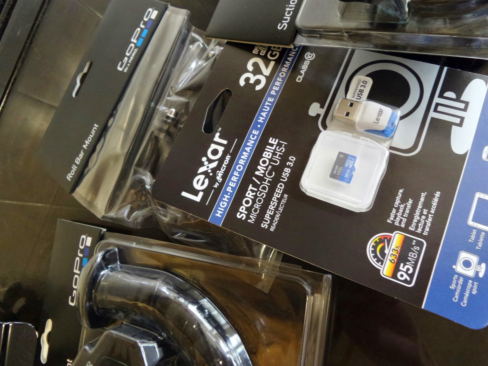 GoPro Accessories and camera
