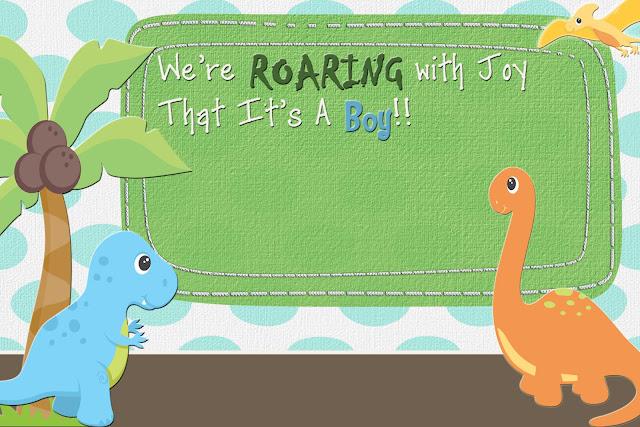 The Fast Lane Freebie Friday Dinosaur Baby Shower Invitation