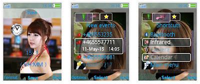 韓國車模李智友SonyEricsson手機主題for Elm/Hazel/Yari/W20﹝240x320﹞