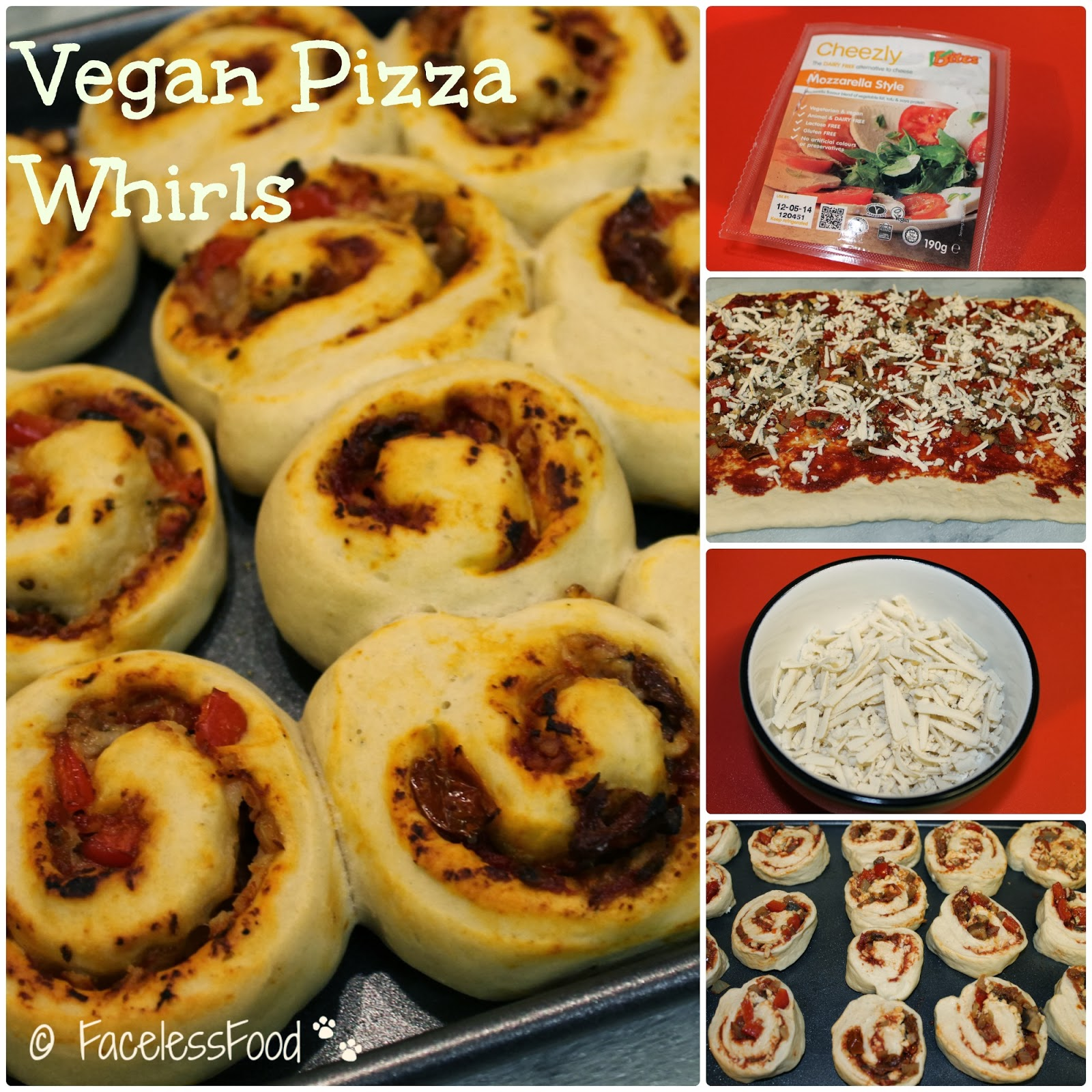vegan pizza whirls