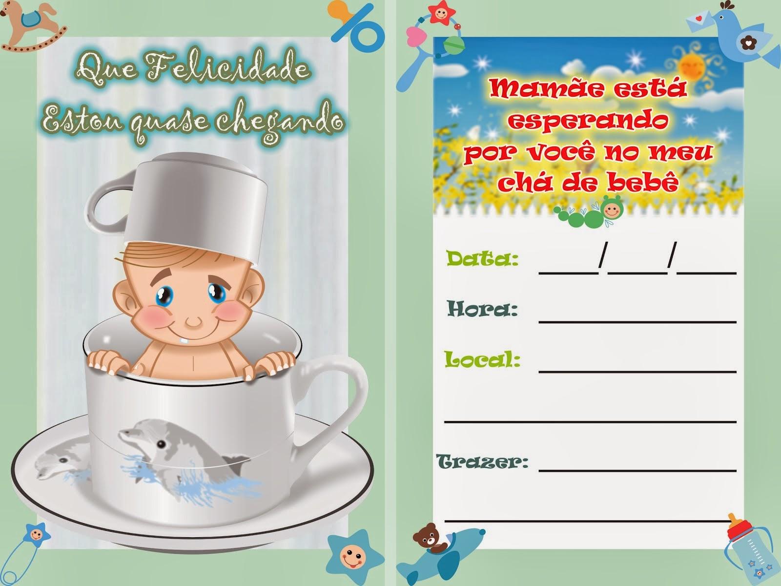 Convite para chá de bebê online 3