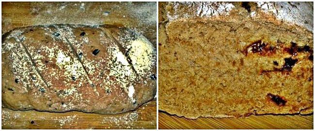 Preparación del pan con chocolate