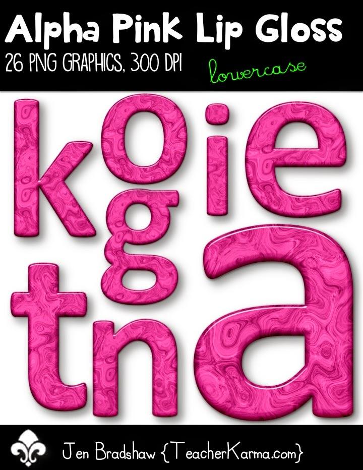 FREEBIE Clip Art:  Alphabet graphics.  TeacherKarma.com
