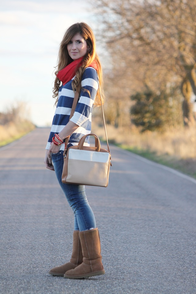 Outfit Botas Ugg Camel