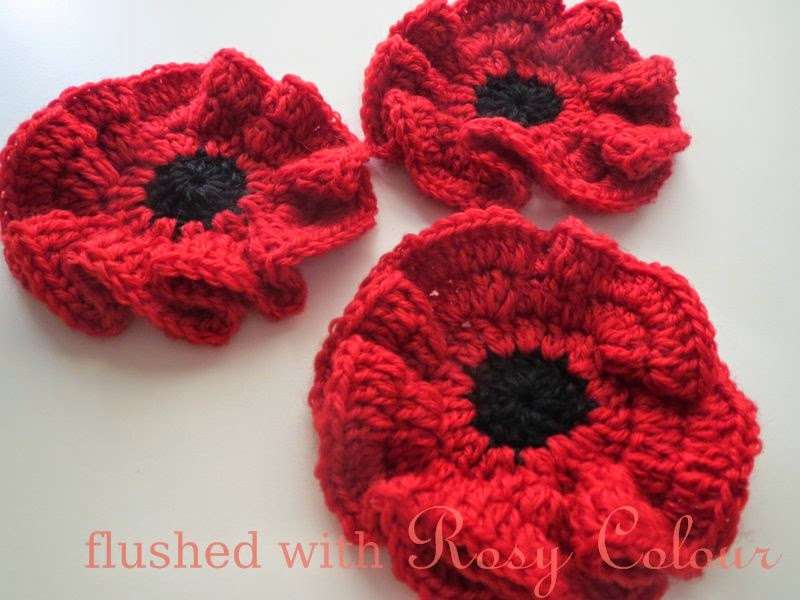 Knitting Pattern For Poppy Flowers : Flushed with Rosy Colour: Remembrance Poppy, free pattern