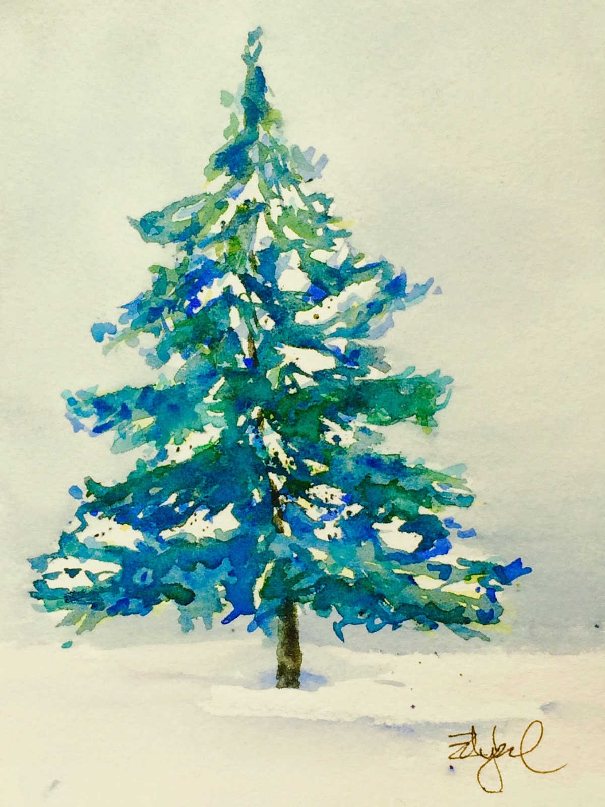 learn watercolor basics making holiday cards