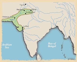 peta kota harappa dan mohenjodaro