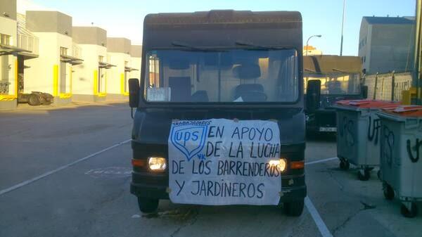 Blog de los as trabajadores as de ups vallecas 1 11 13 for Sindicato jardineros