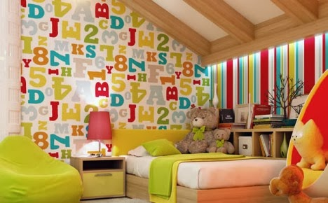แบบห้องนอนน่ารัก สีสันสดใส ลดวัยให้กับตัวเอง