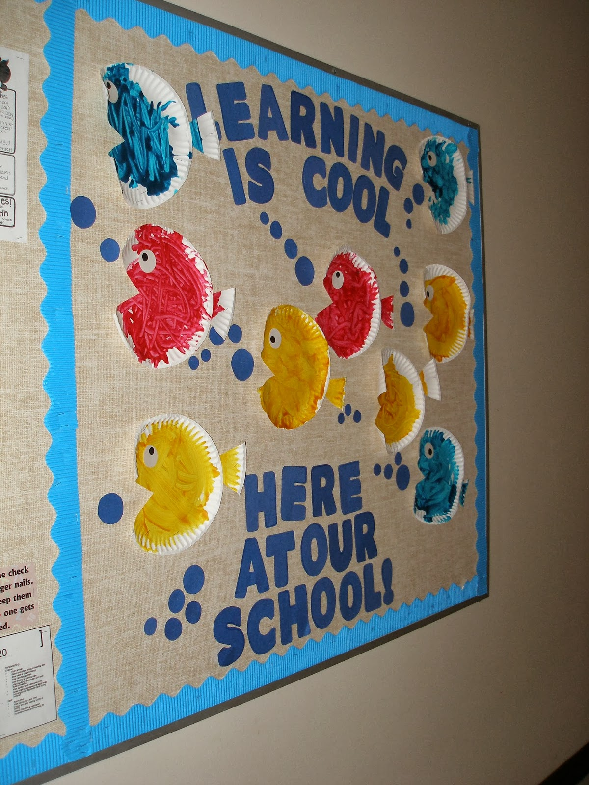 Classroom here at our school fish bulletin board for Fish bulletin board