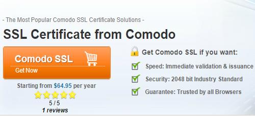 SLL Certificate Comodo