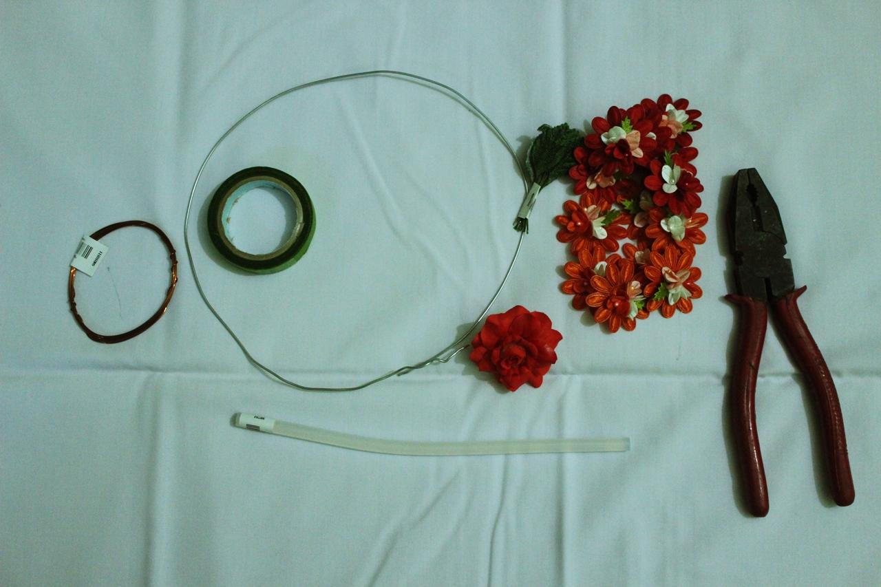 Siti syafita tutorial cara membuat mahkota bunga flower crown ini bahan yang dibutuhkan siapkan ya izmirmasajfo