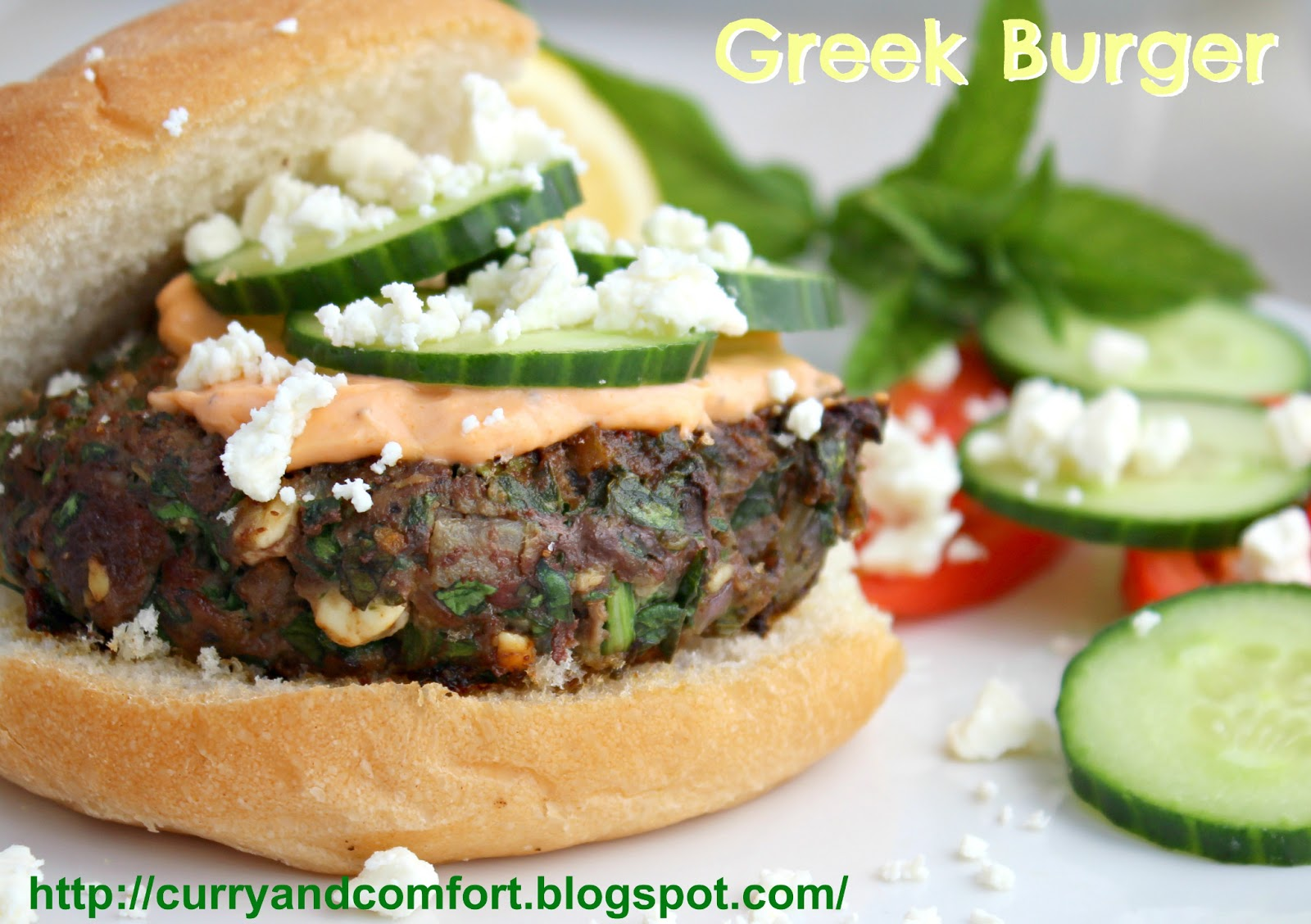 Kitchen Simmer: Greek Style Spinach and Feta Burgers