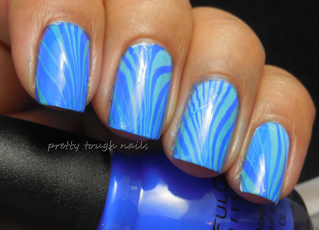 #31DC2013 Blue With Sinful Colors Endless Blue And Sweet Nothing Watermarble