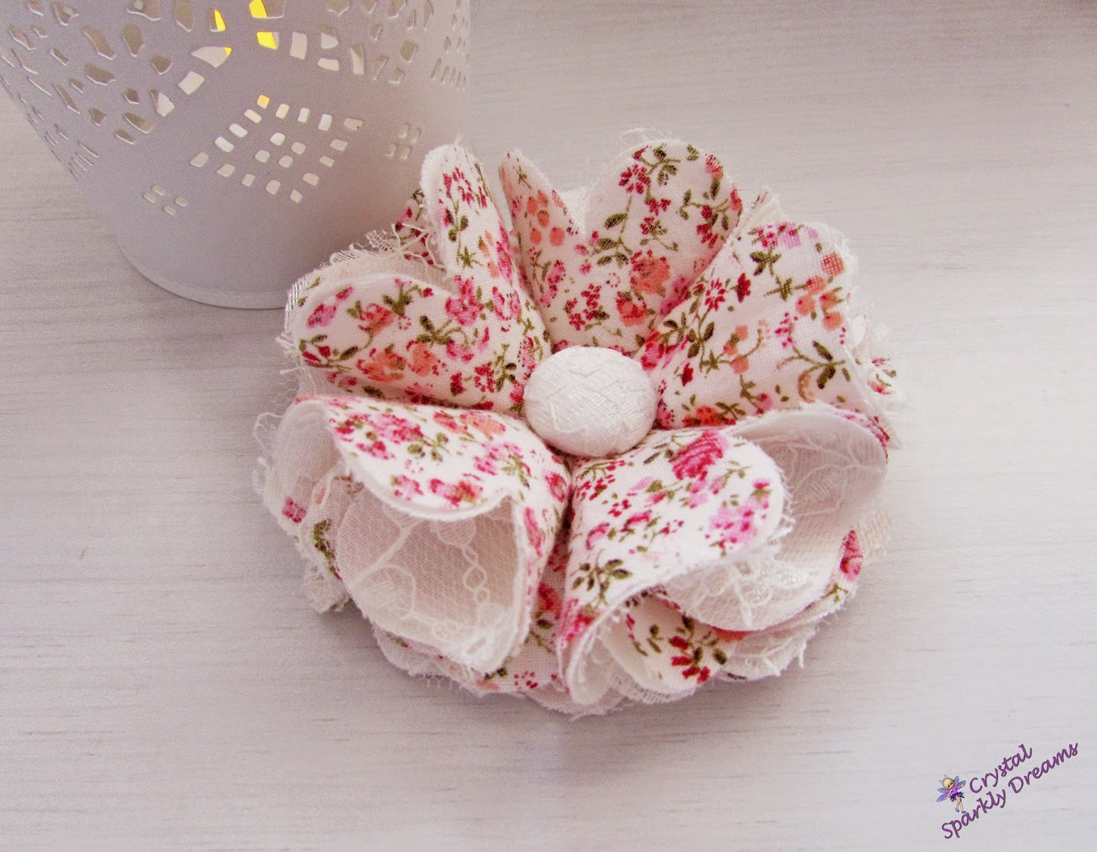 Fabric and lace Flower, Etsy Shop, Designs By Fleur Petite