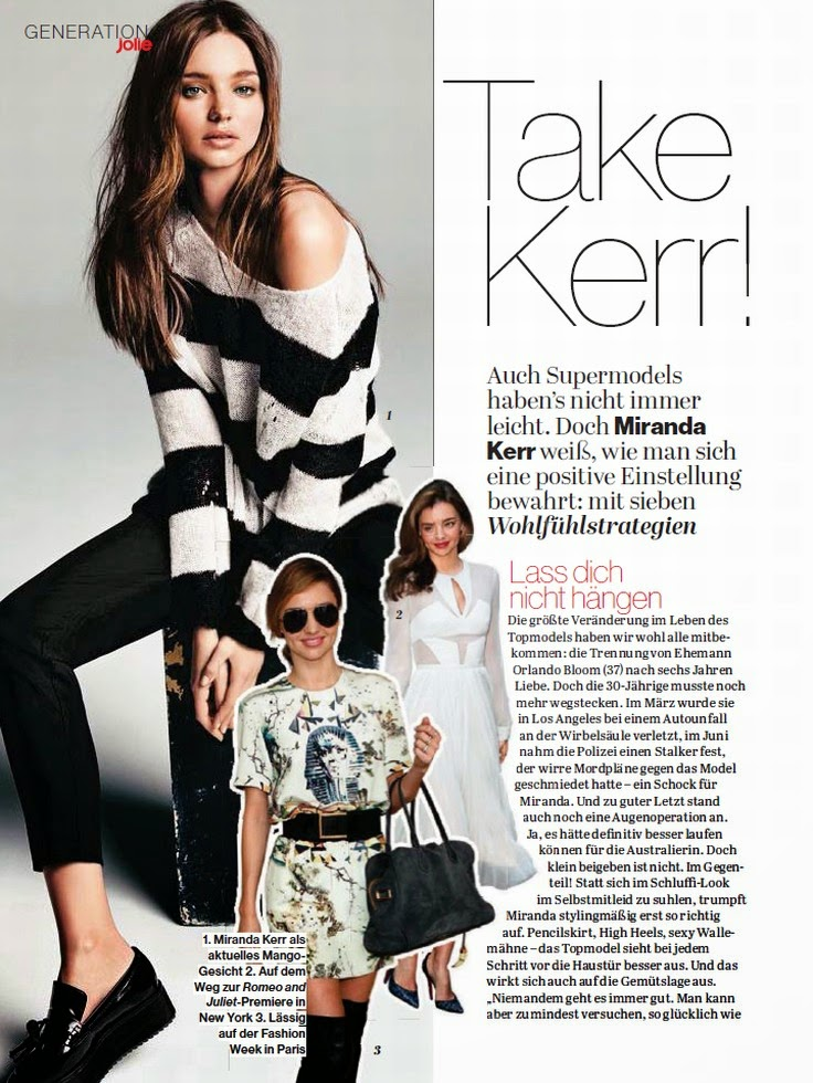 Magazine Scan : Miranda Kerr Magazine Photoshoot Pics on Jolie Magazine Germany February 2014 Issue