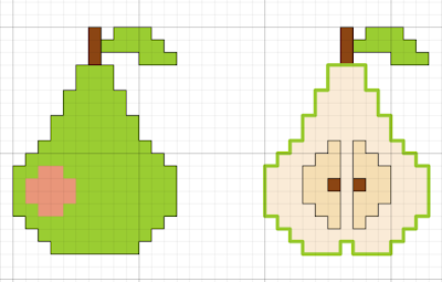 pear free cross stitch pattern