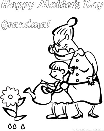 Happy mothers day coloring pages for Happy mothers day coloring page