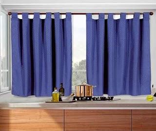 Cortinas de 2 pa os para cocinas de todos los colores for Disenos de cortinas para cocina