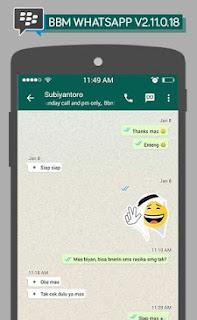 BBM Mod Whatsapp V2.11.0.18 Apk For Android Terbaru 2016
