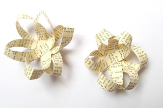 How to make an upcycled paper bow