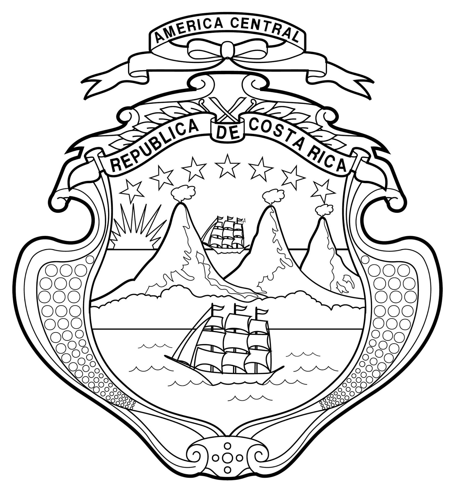Escudo de Costa Rica | Ideama • Surá diseño