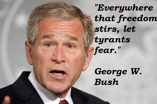 if i were george bush essay
