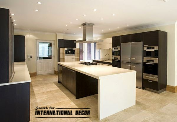 kitchen in high-tech style, kitchen lighting