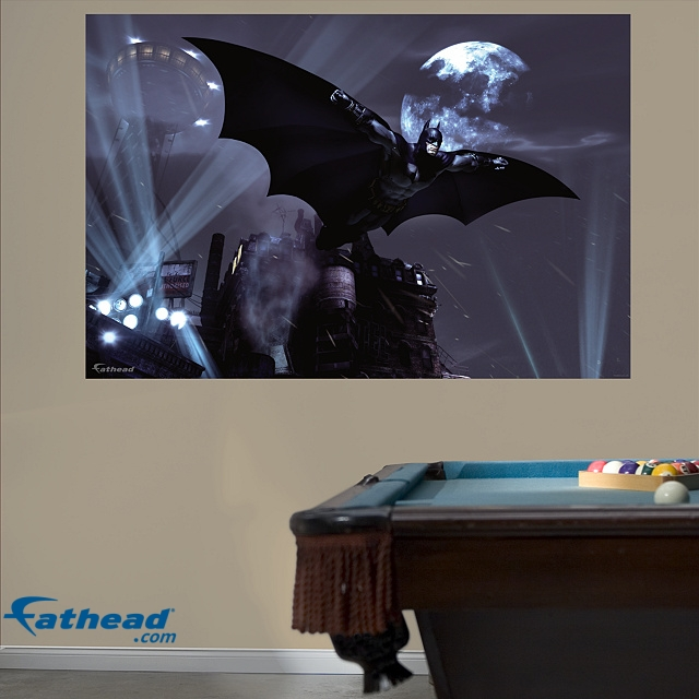 Fathead launches batman arkham city video game wall for Batman wall mural