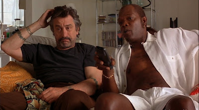 Robert De Niro and Samuel L Jackson in Jackie Brown