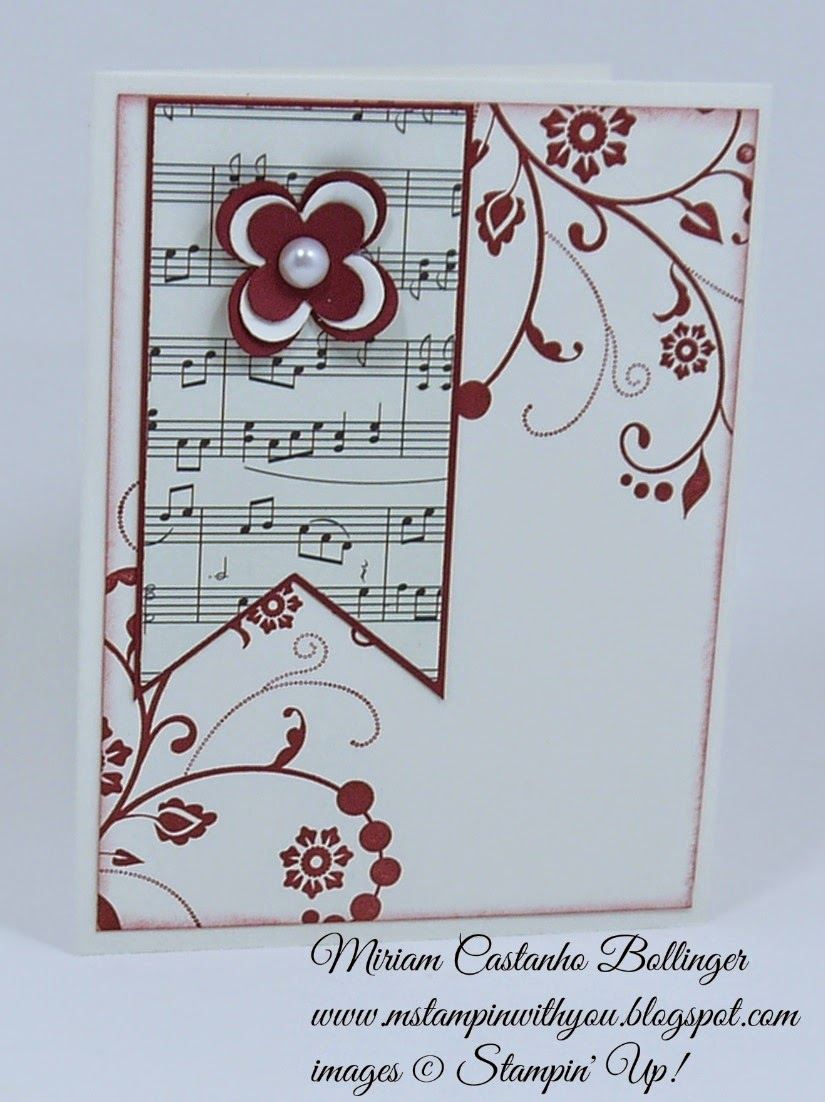 Miriam Castanho Bollinger, #mstampinwithyou, stampin up, demonstrator, dsc, modern medley, flowering flourishes, big shot, su