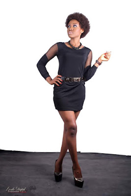 Imo Top Model Lucy Uzoukwu stuns in Black inspired photo shoot