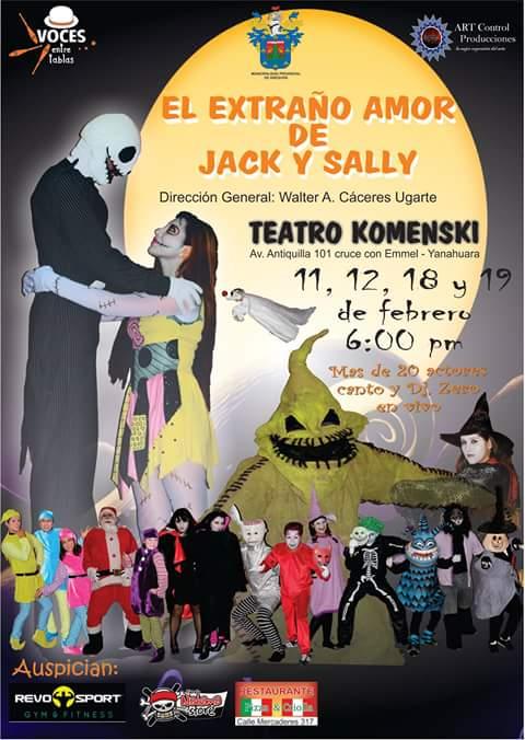 El extraño amor de Jack y Sally - Teatro - 11, 12, 18 y 19 de feb