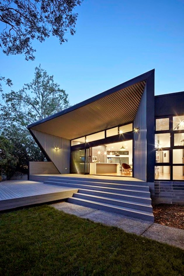 Casa minimalista en camberra minimalist house in for Minimalist homes australia