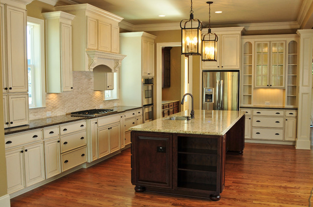 Simplifying remodeling top 6 hardware styles for raised for Antique white kitchen cabinets with dark island