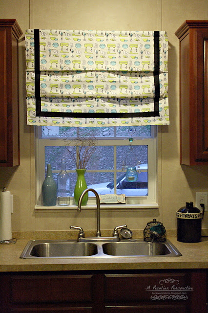 DIY easy no sew roman shade
