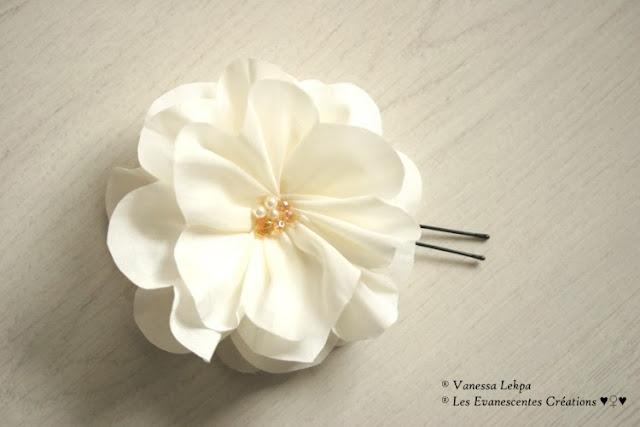 fleurs accessoire cheveux mariée vanessa lekpa
