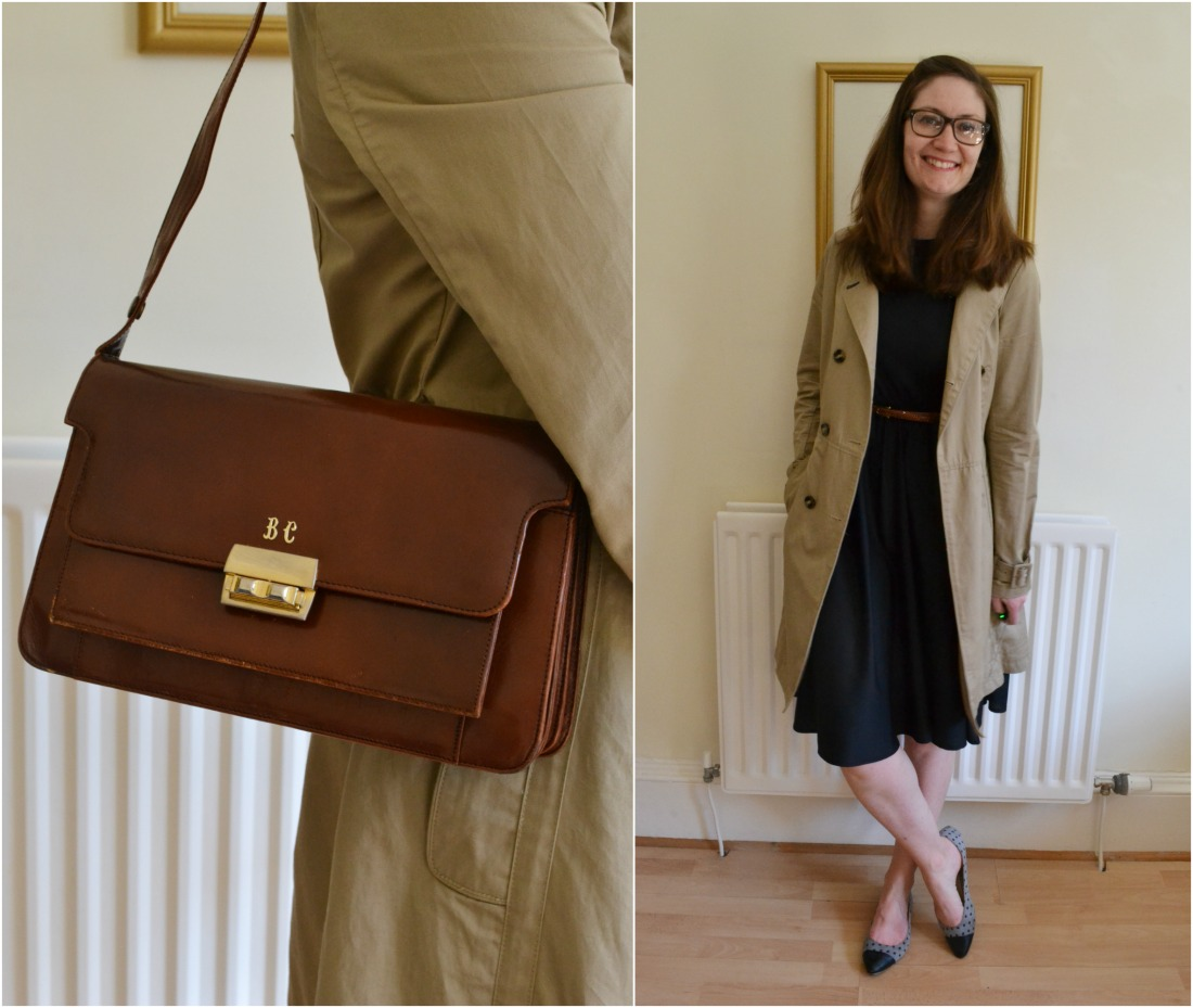 vintage bag grans trench coat tall