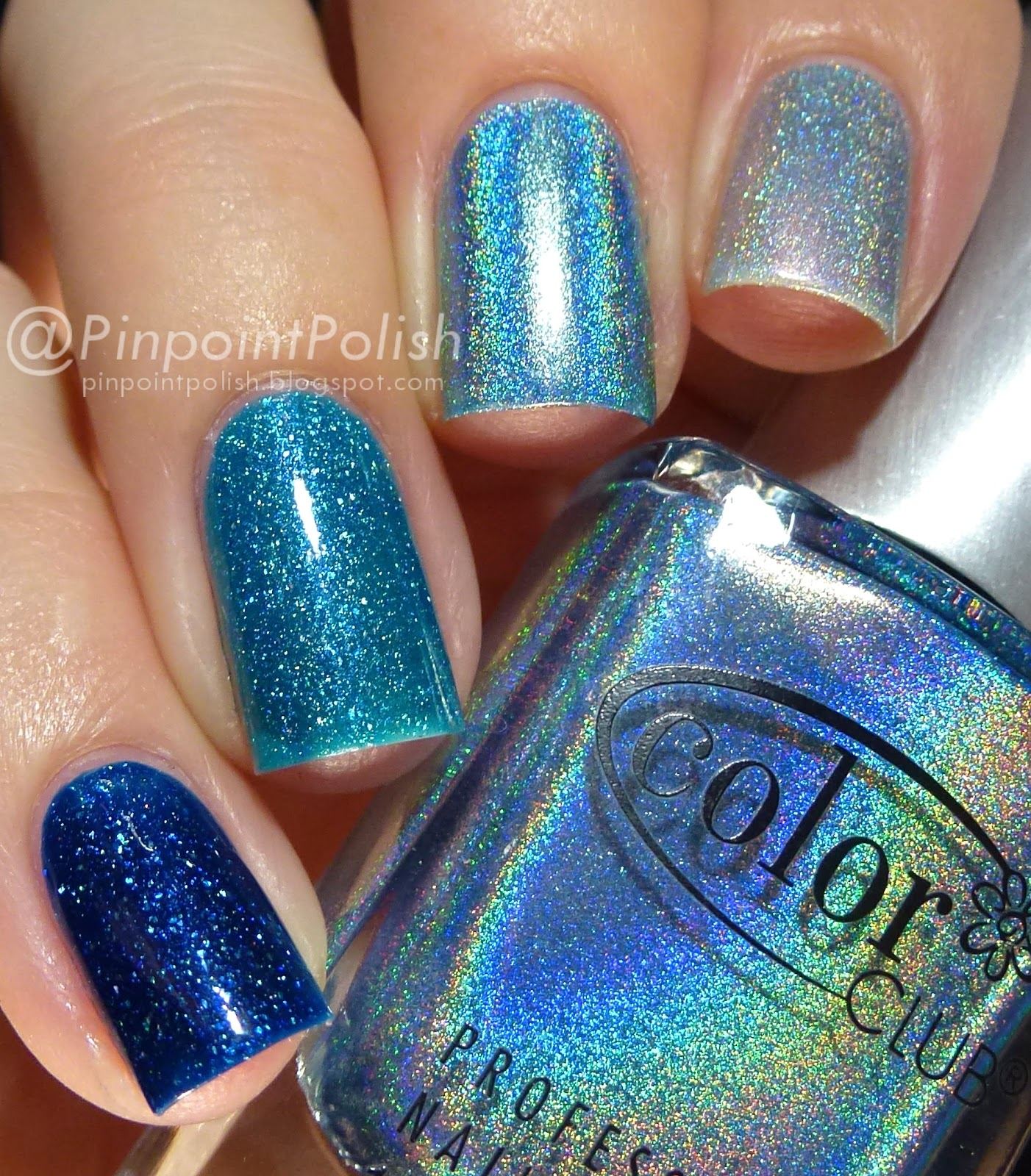picture polish Cosmos, Ocean, color club over the moon, OPI DS sapphire, Ombre