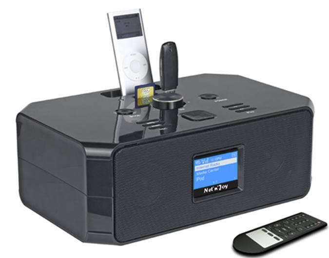 Интернет радиоприемник Net n Joy NJ-301 с докстанцией для подключения iPod и iPhone