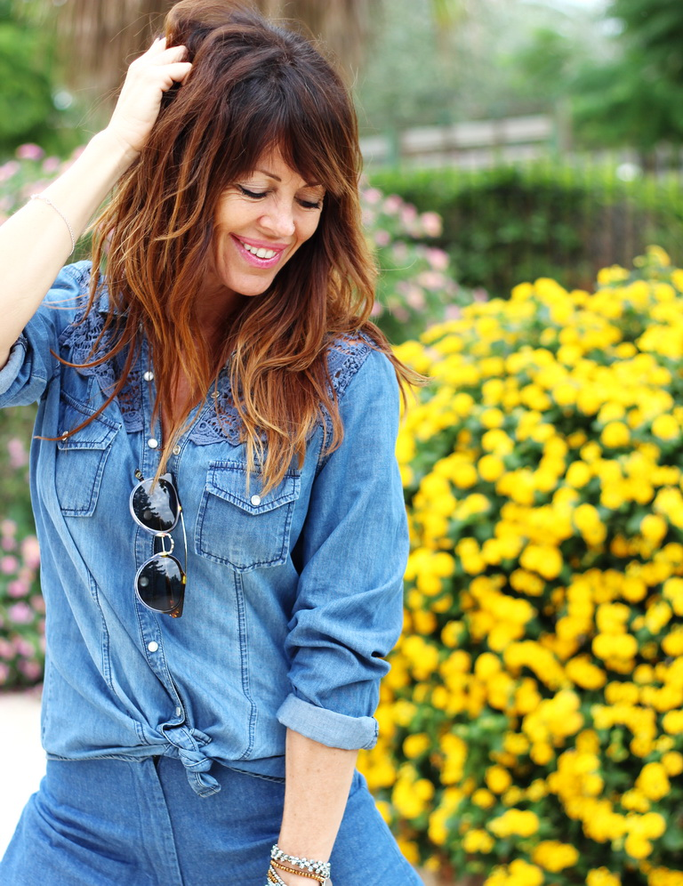 smile, total denim, streetstyle, fashion blogger, tendencias otoño 2015 , culottes denim