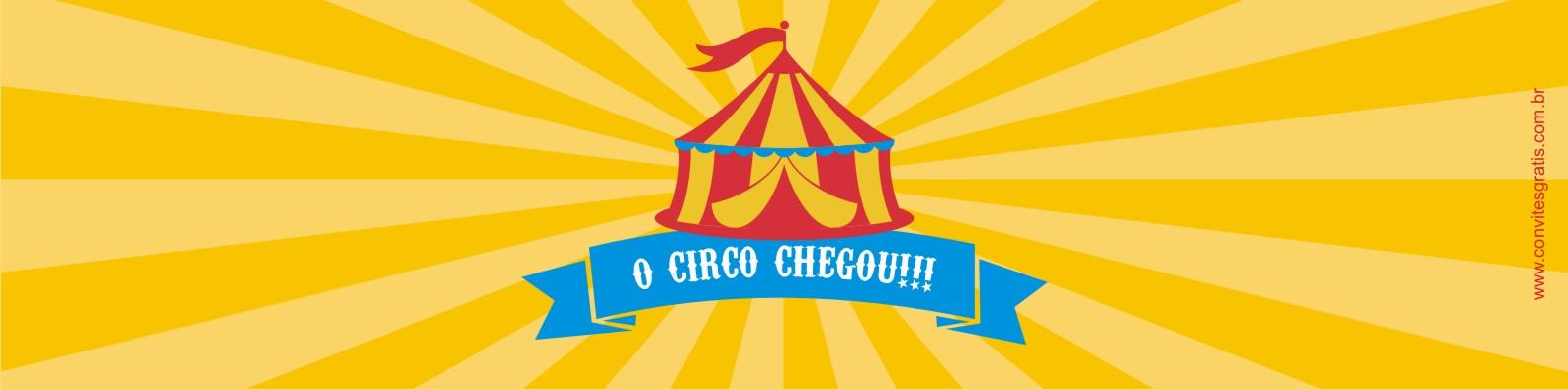 circo adesivo água grátis