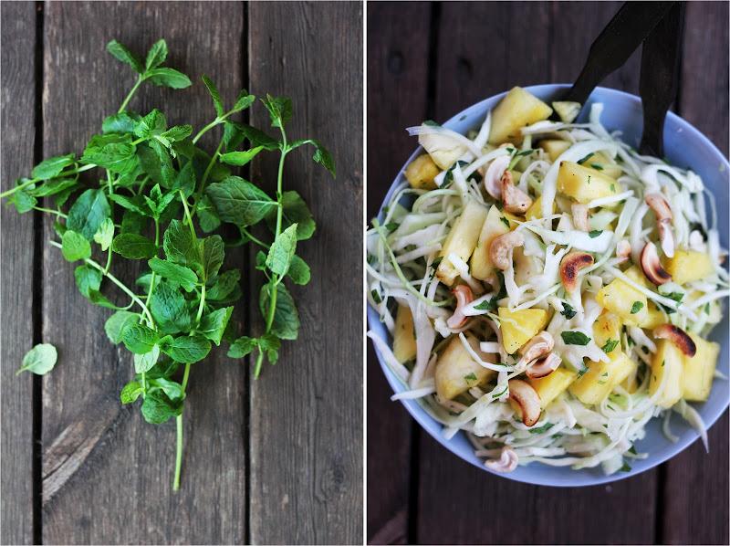 Salat hvidkal ananas