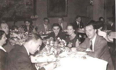 Banquete de despedida del Match Internacional Interclubs de Ajedrez Barcelona 1951