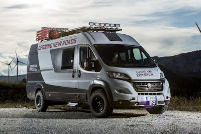 Fiat Ducato 4x4 Expedition Camper Show Van (2015) Front Side