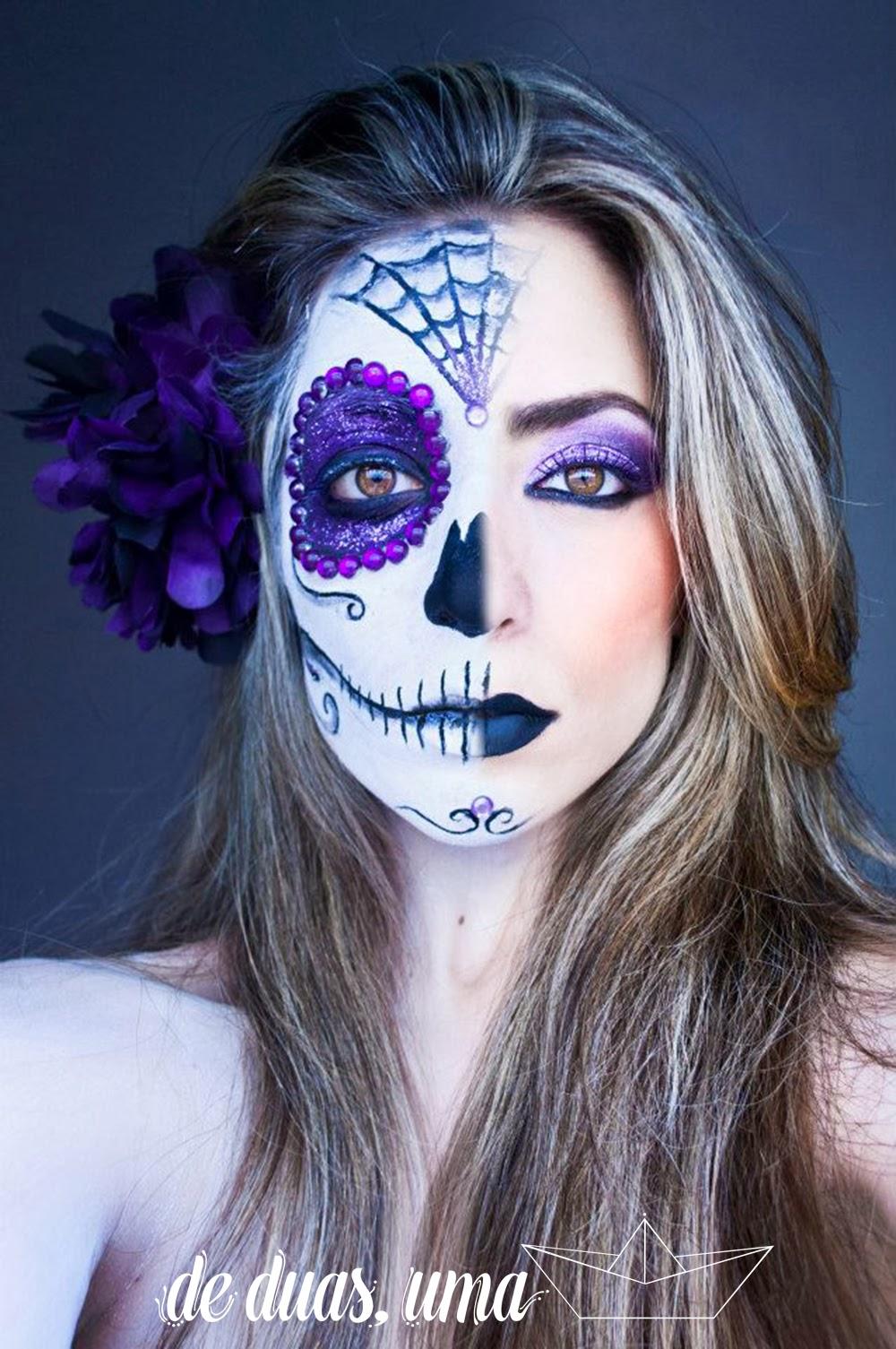 pintura facial caveira mexicana
