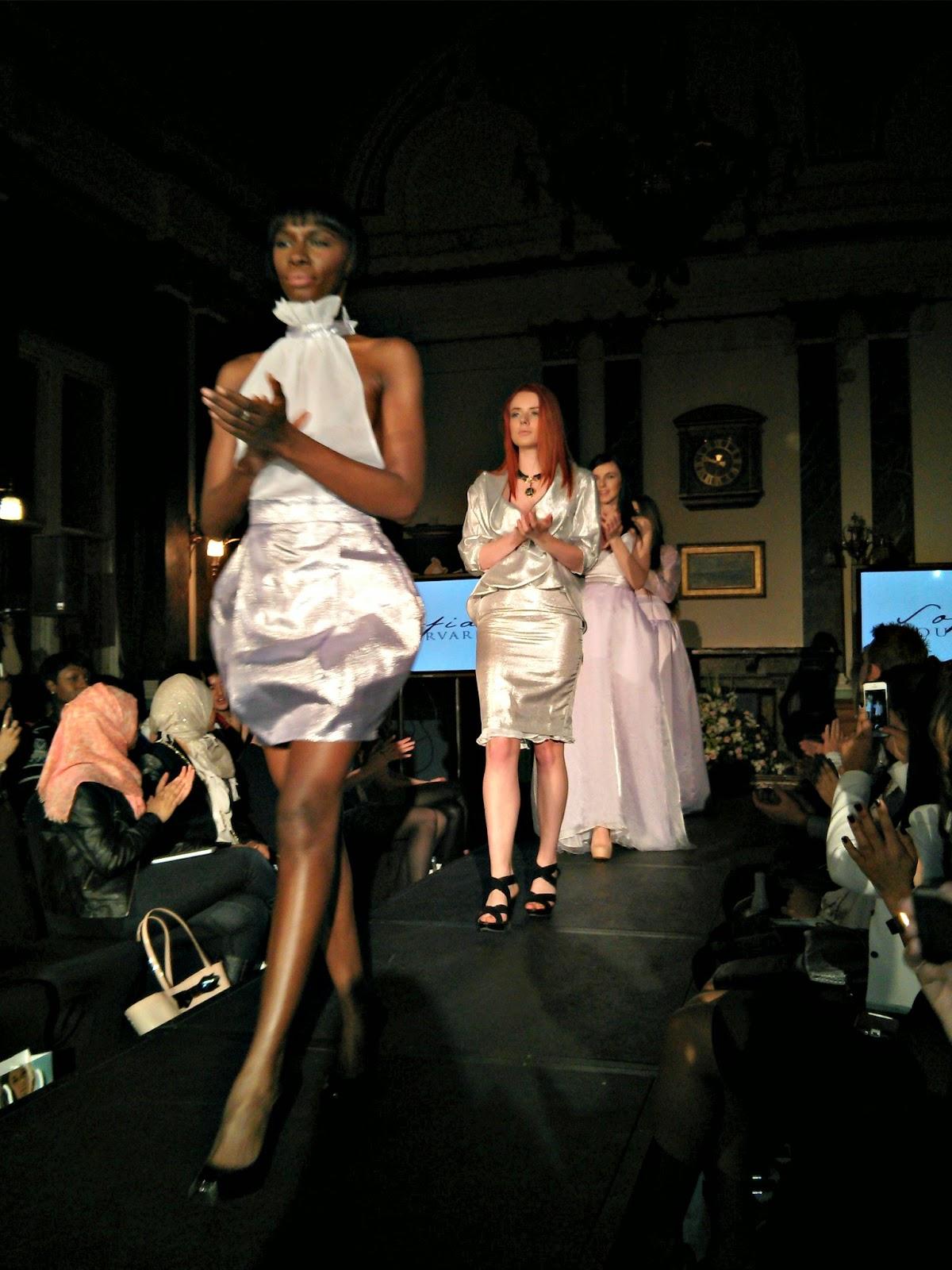 Sofia Dourvari fashion show at Birmingham Fashion Week