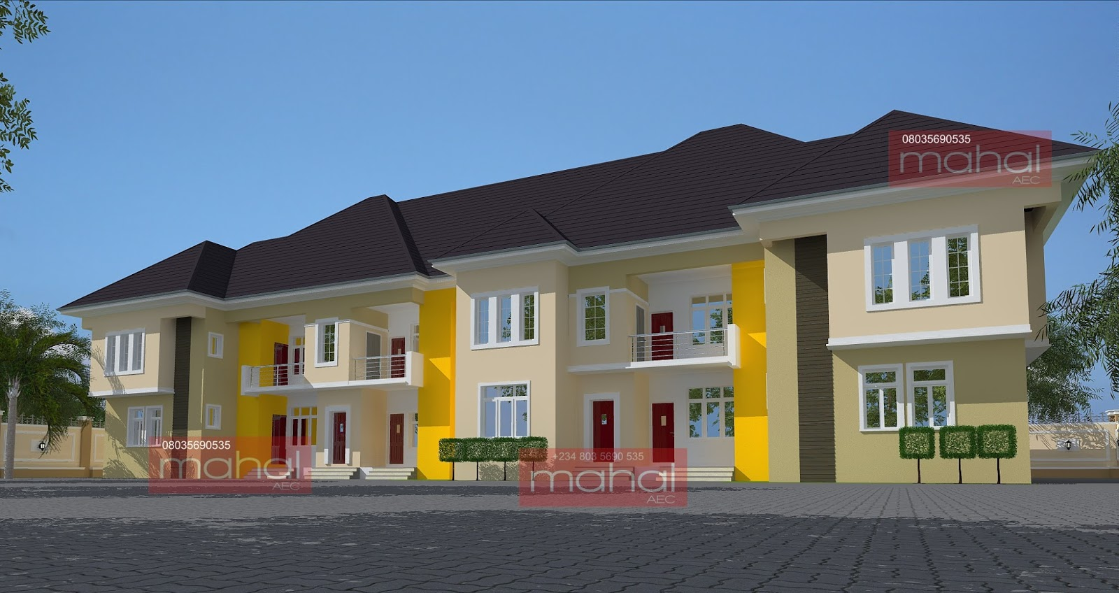 Contemporary nigerian residential architecture olotu house for Nigerian architectural designs
