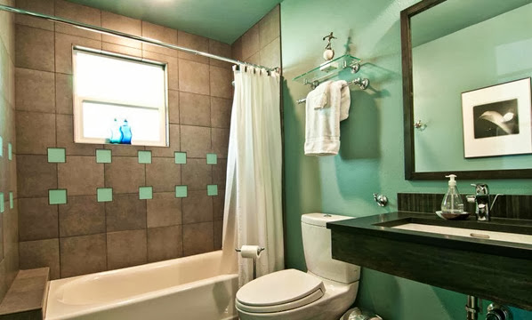 Cool and elegant turquoise bathroom design ideas pictures for Turquoise bathroom decor