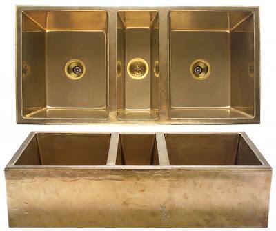 Brass Farmhouse Sink